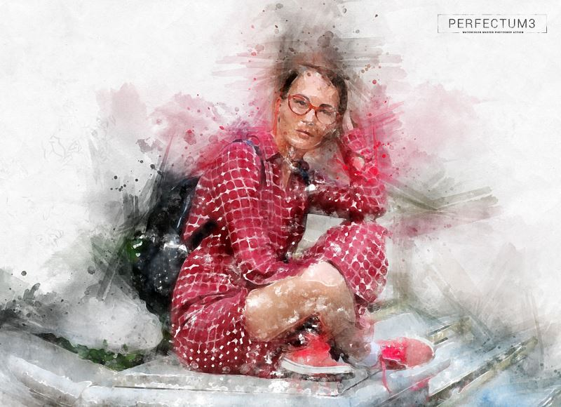 perfectum 3 watercolor master photoshop action