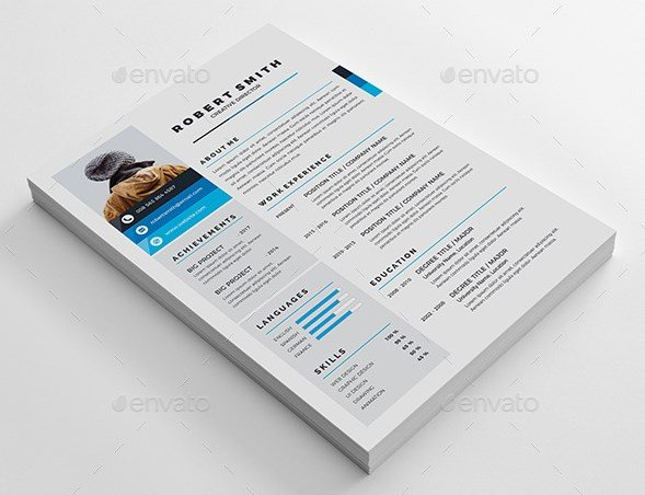 7 resume cv landscape and portrait
