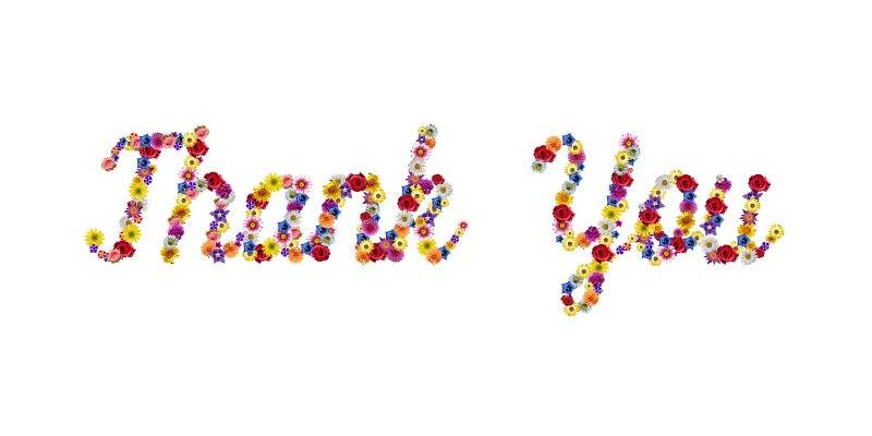 7 thank you flowers