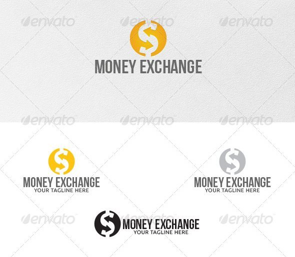 9 Money Exchange Logo Template