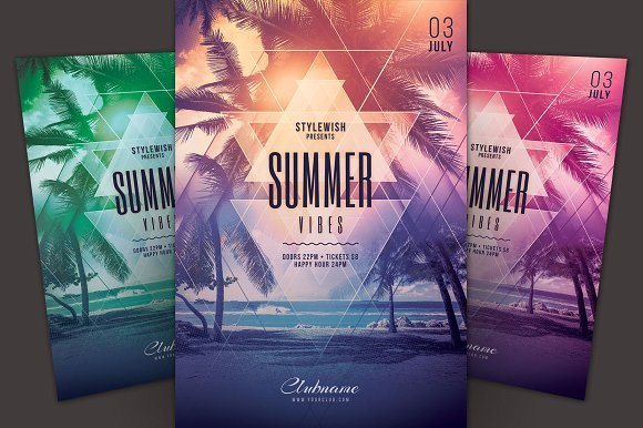 25 Summer Party Flyer Templates (PSD & AI)