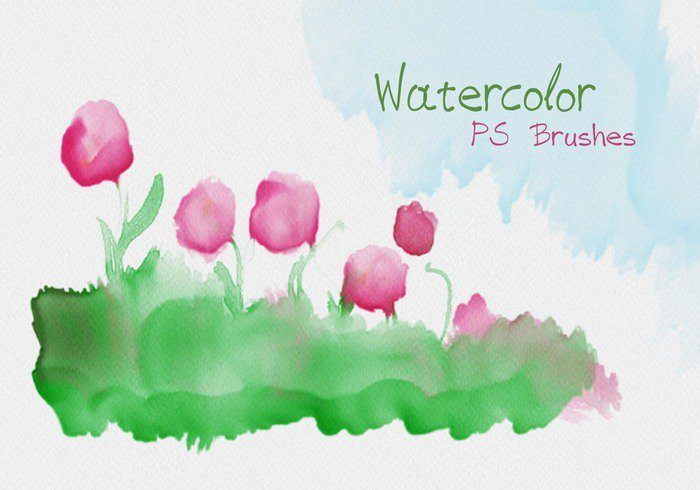 watercolor mask ps brushes