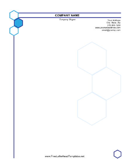 Business Letterhead Hexagon Design