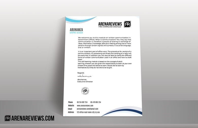 Classic Business Letterhead Template