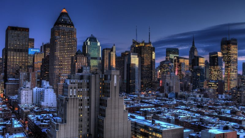 New York City Evening View