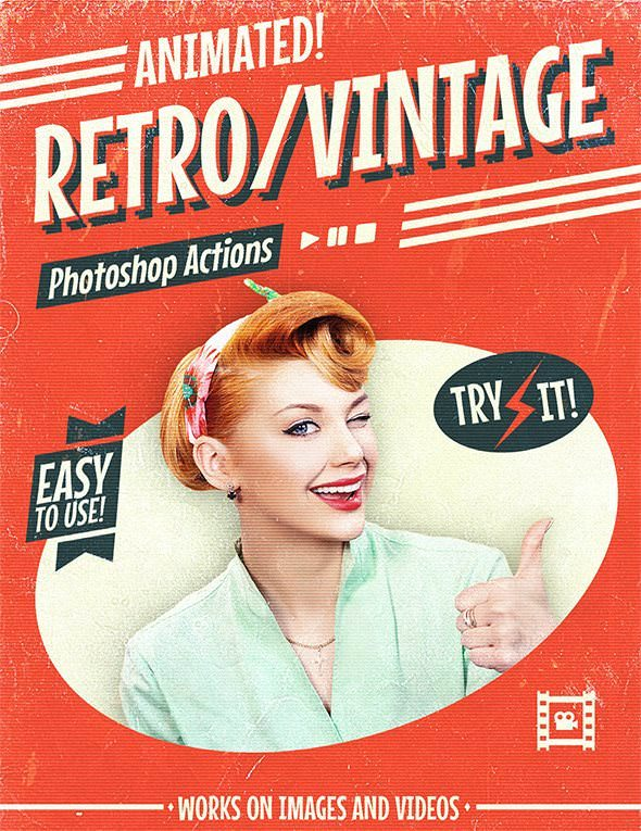 Animated Retro Vintage Film Photoshop Actions