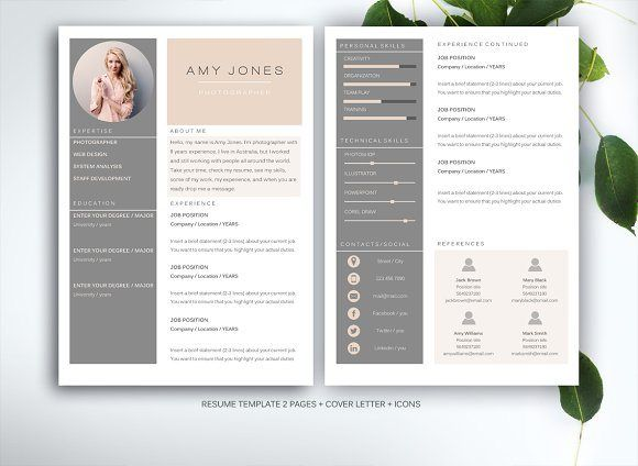 Modern and Elegant Resume Template for Ms Word
