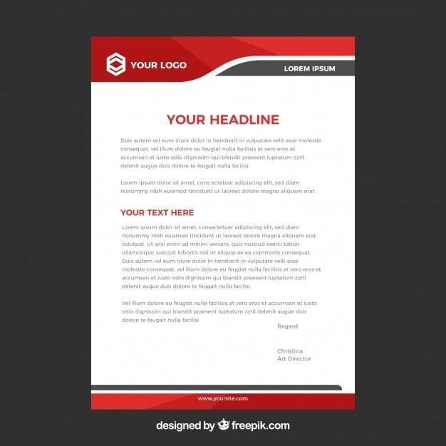 Letterhead Template In Flat Style: 30 Creative Business Letterhead Templates (MS Word, PSD