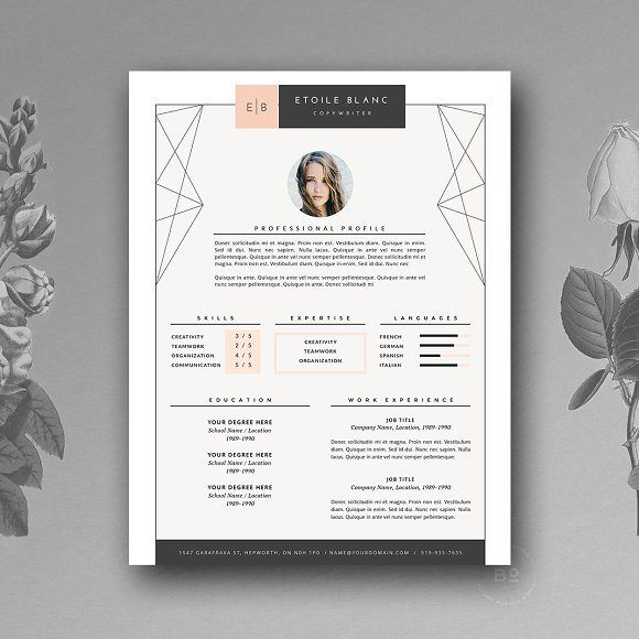 2 Pages Creative Resume Template