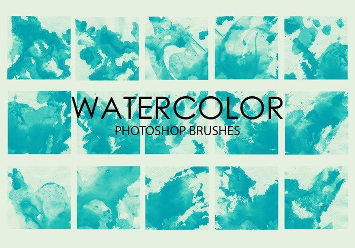 free watercolor wash photoshop brushes