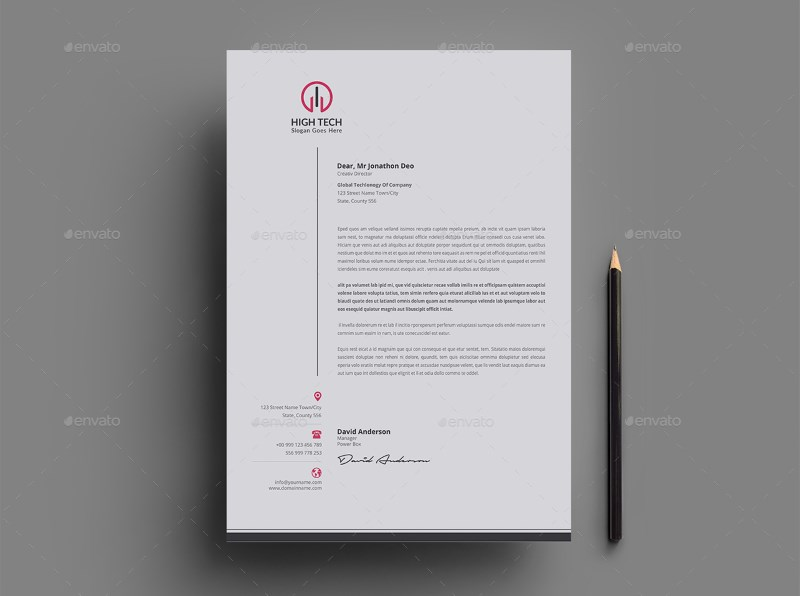 3 Color Variations Clean Letterhead Template