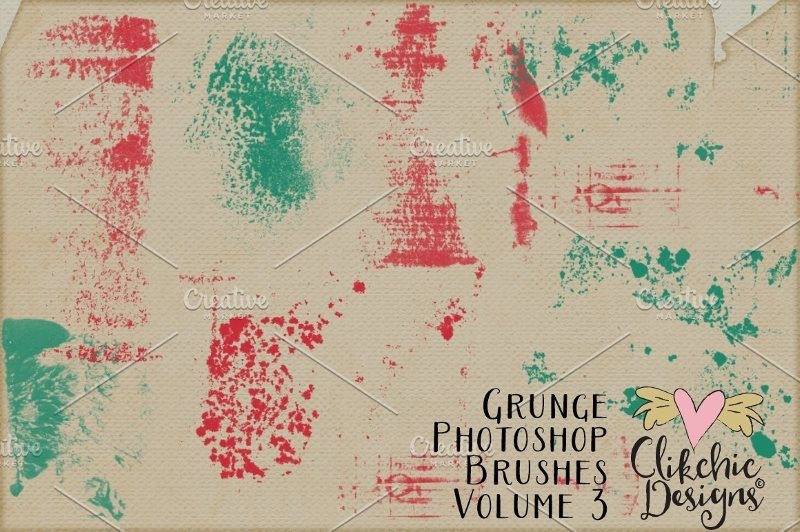 Grunge Texture Photoshop Brushes
