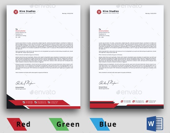 Minimal Letterhead Editable on Photoshop and Word
