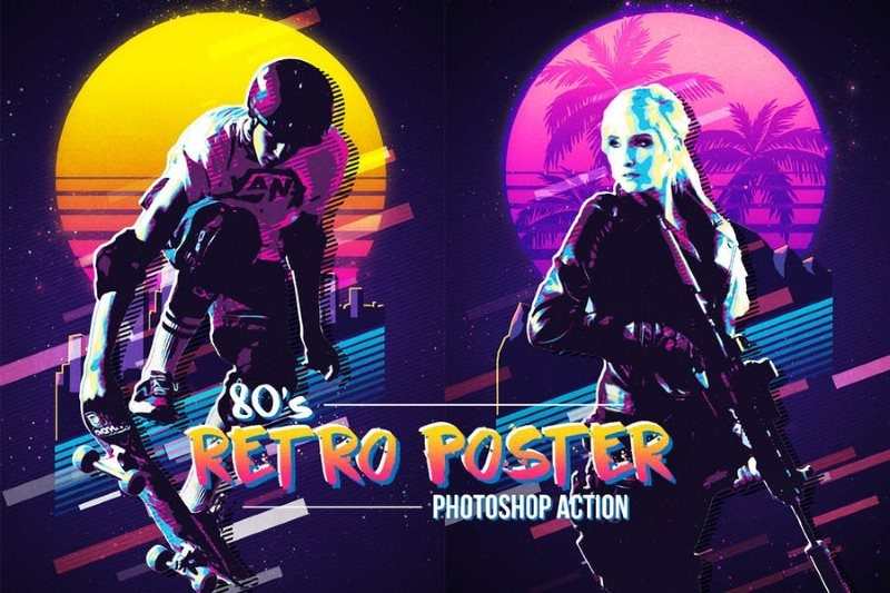 30 Best Retro Photoshop Actions