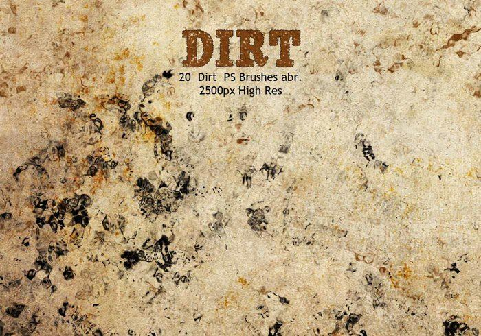 Dirt Photoshop Brushes Abr