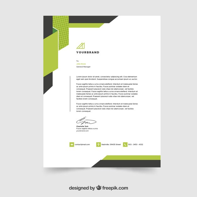 Creative Letterhead Template in Flat Style