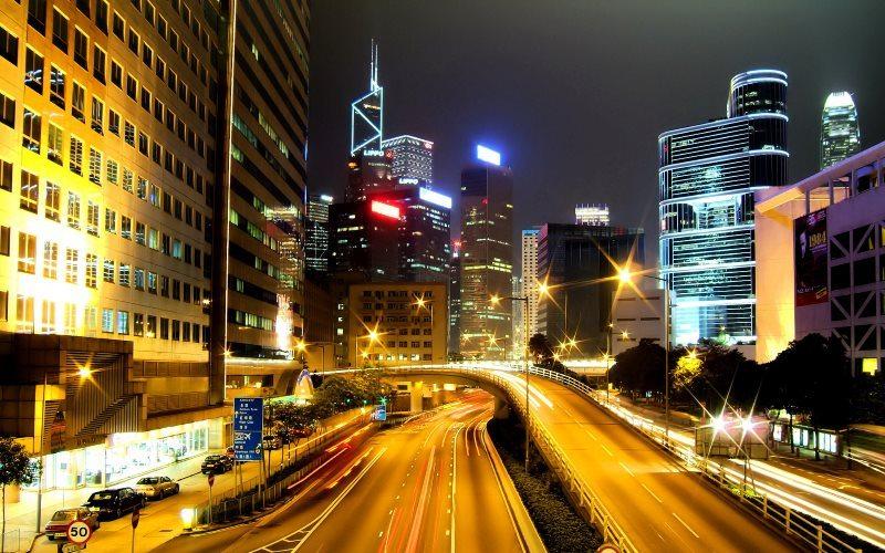 Night Light Urban City Wallpaper