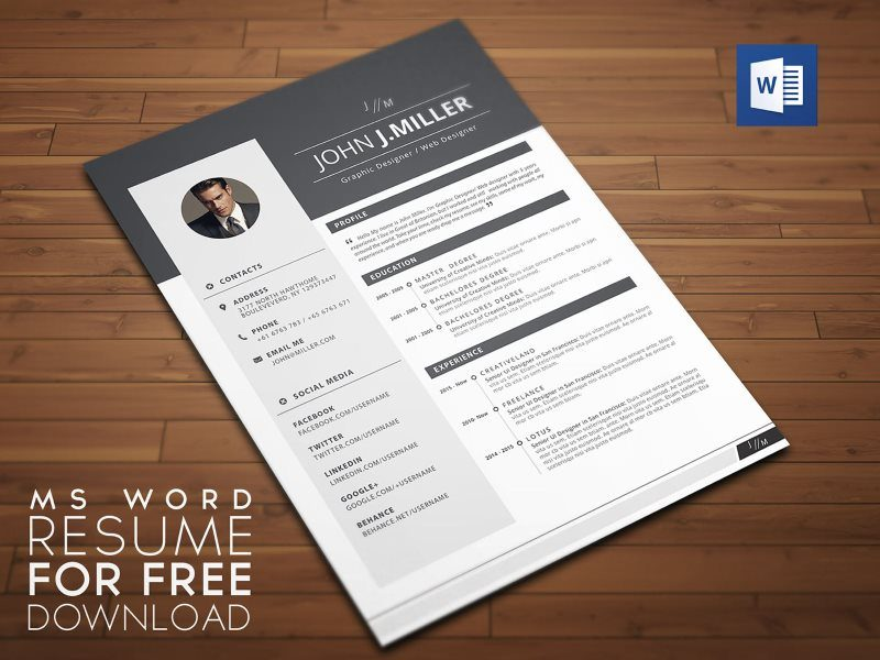 21 Creative Resume Templates MS Word – Free & Premium