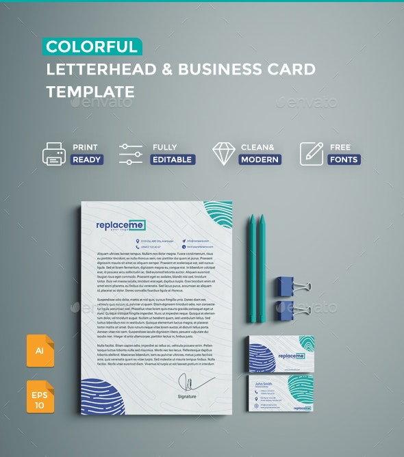 creative letterhead business card