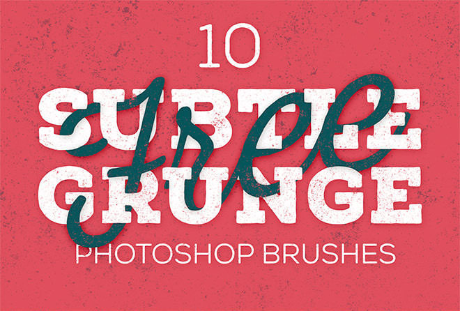 free subtle grunge photoshop brushes