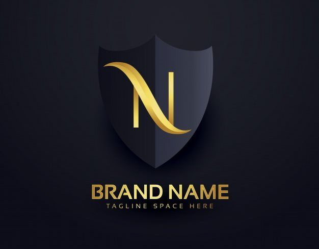 Letter N Luxury Shield Logo