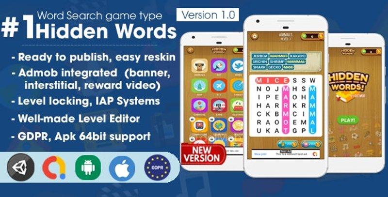 10 Hidden Words Word Search