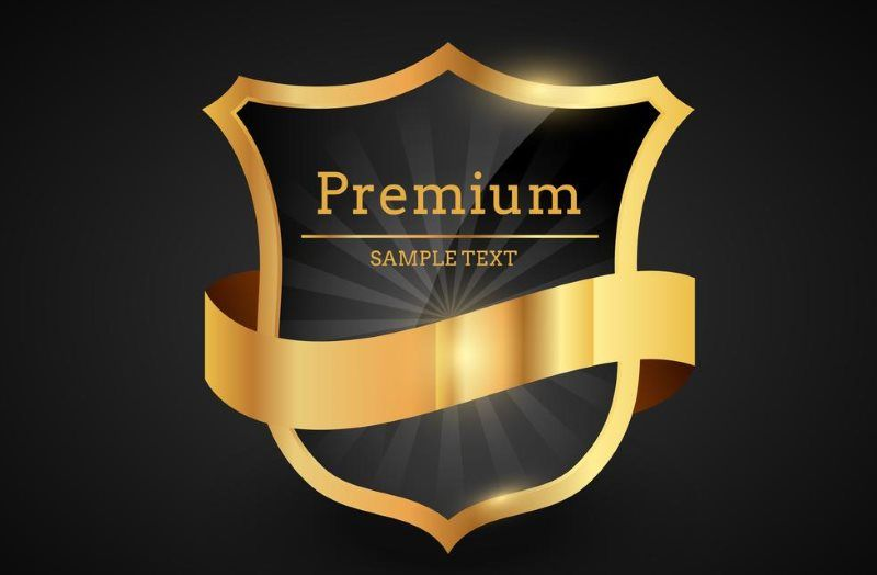 Premium Luxury Golden Label Logo Design