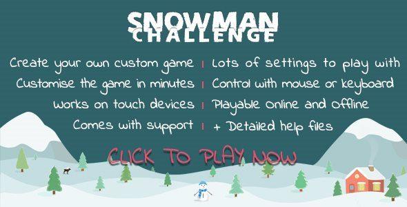 Snowman Challenge Word Game