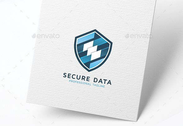 Secure Data Shield Design Logo Template