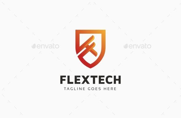 Flextech Shield F Letter Logo