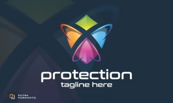 Protection Shield Logo Template
