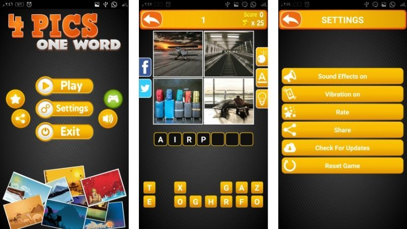 4 Pics One Word Android Game