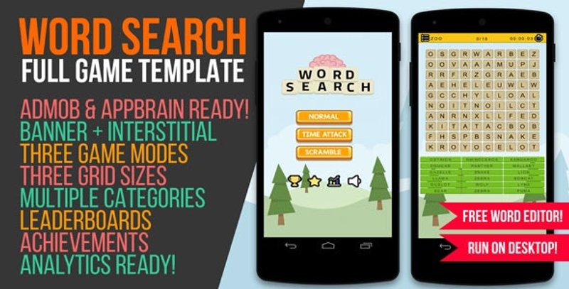 7 Word Search Game with