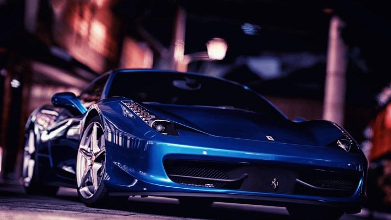 Blue Ferrari 458 Italia