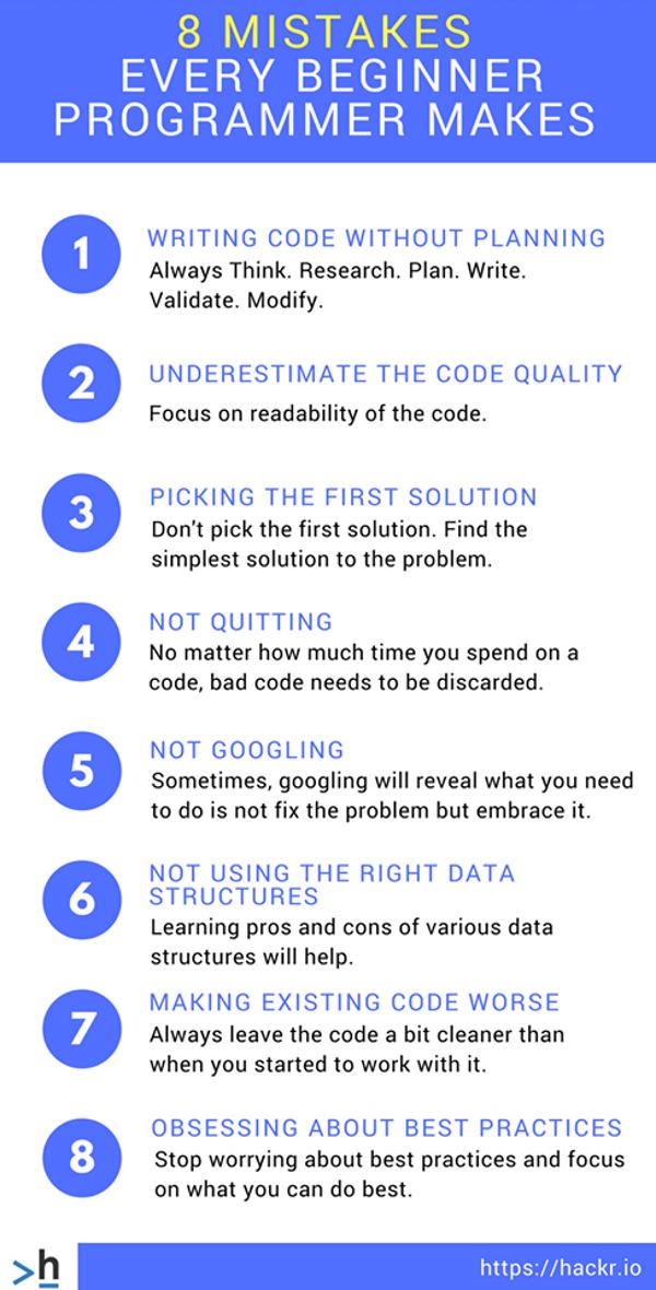beginner programmer mistakes avoid