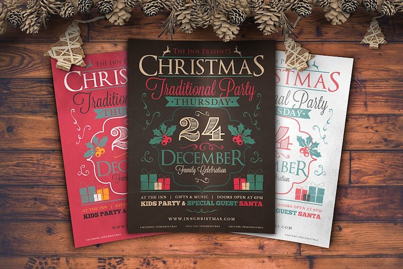 20 Christmas Party Flyer Templates – Free & Premium Download