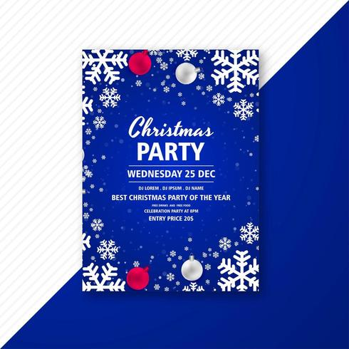 christmas party celebration flyer free vector
