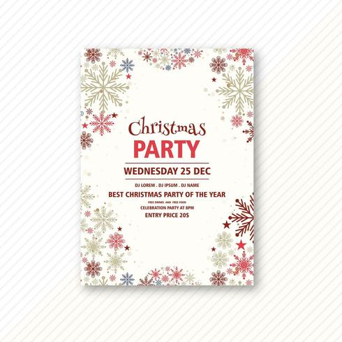 christmas party event flyer design template free