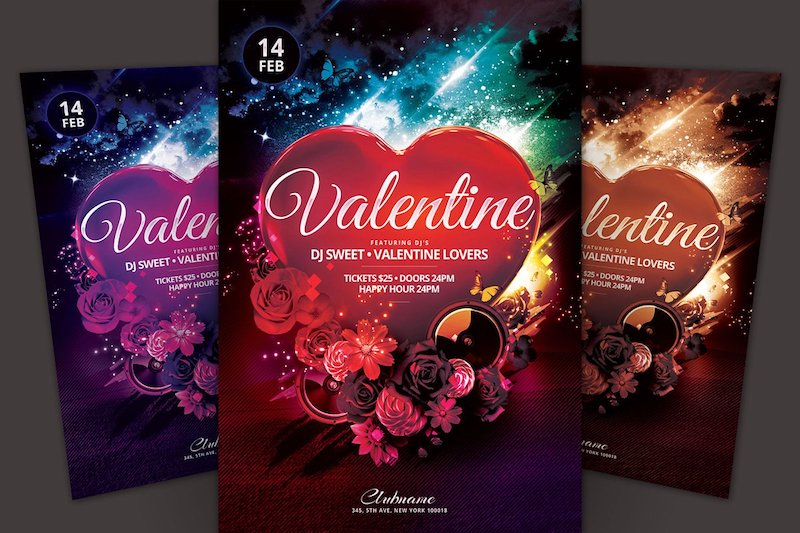 20 Valentine Day Party Flyer Templates  – Free Download & Premium