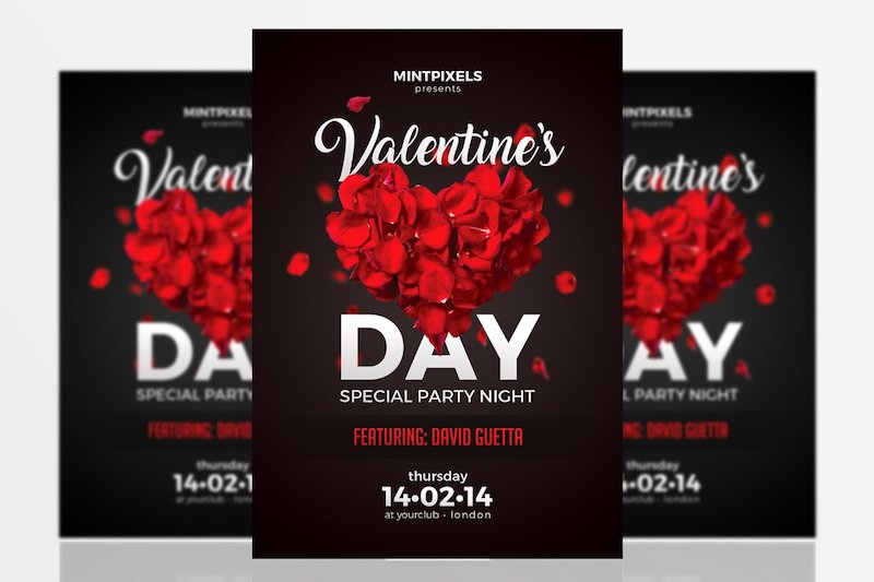 valentines day party a5 flyer