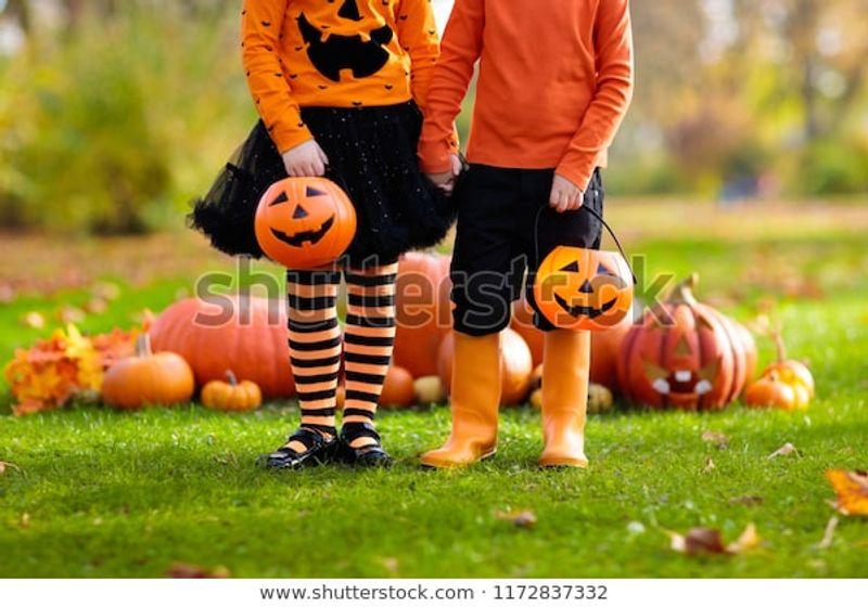 Children Black Orange Witch