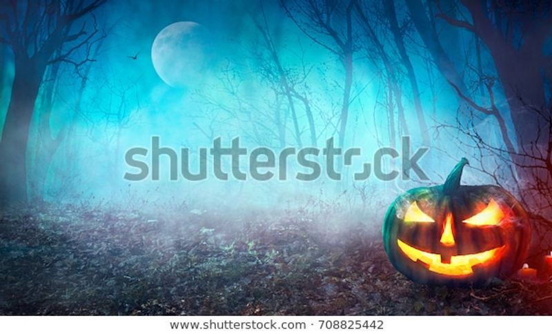 Halloween Background Spooky Pumpkin