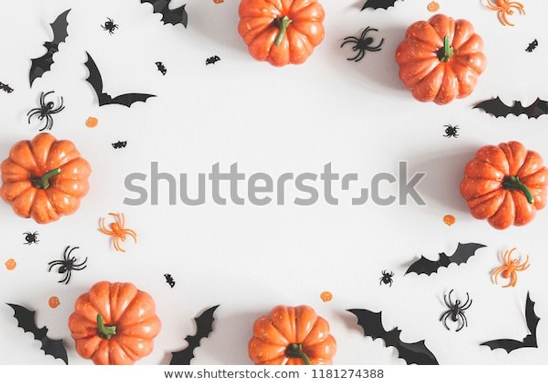 Halloween Decorations On Pastel