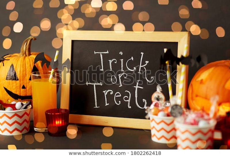 Halloween Holiday Decorations Concept