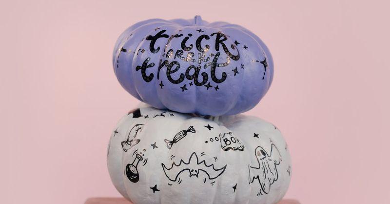 Halloween Painted Pumpkins Free