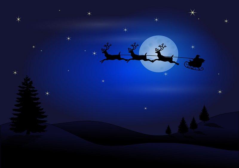 8 Moon Silhouette Santa Claus