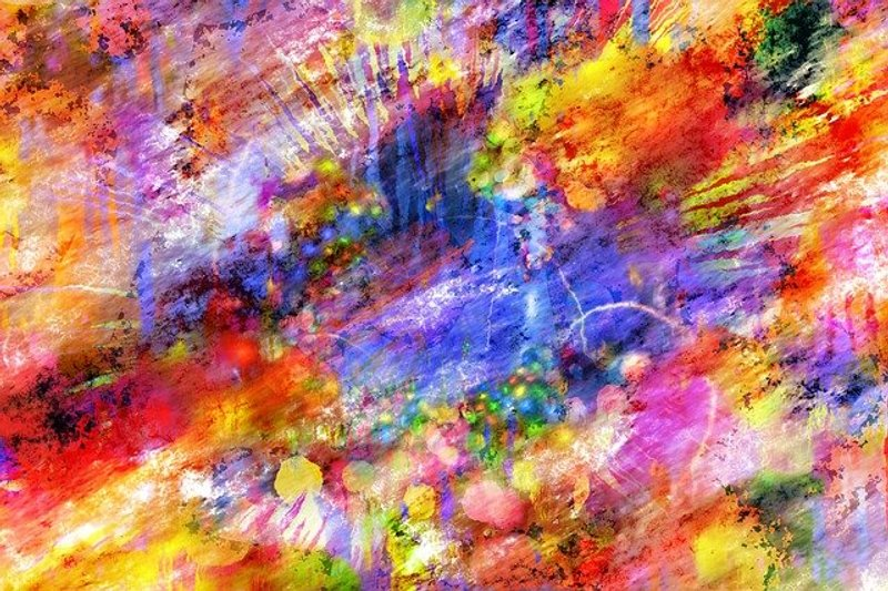 2 Color Abstract Colorful