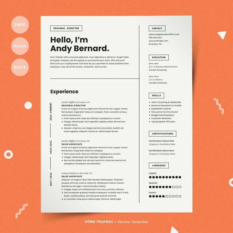 7 Modern Resume Template CV