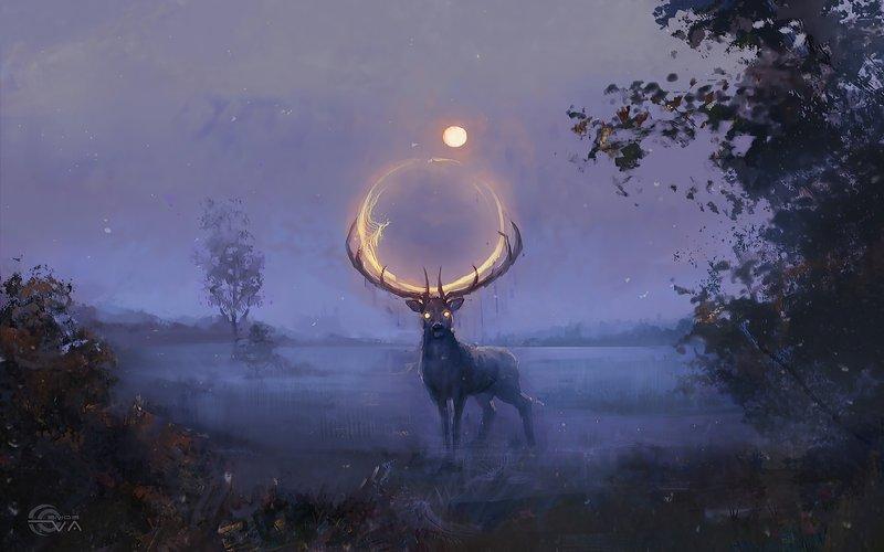 15 3840x2400 Lunar Deer AI