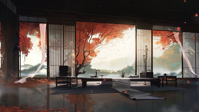 1 A quiet Japanese room